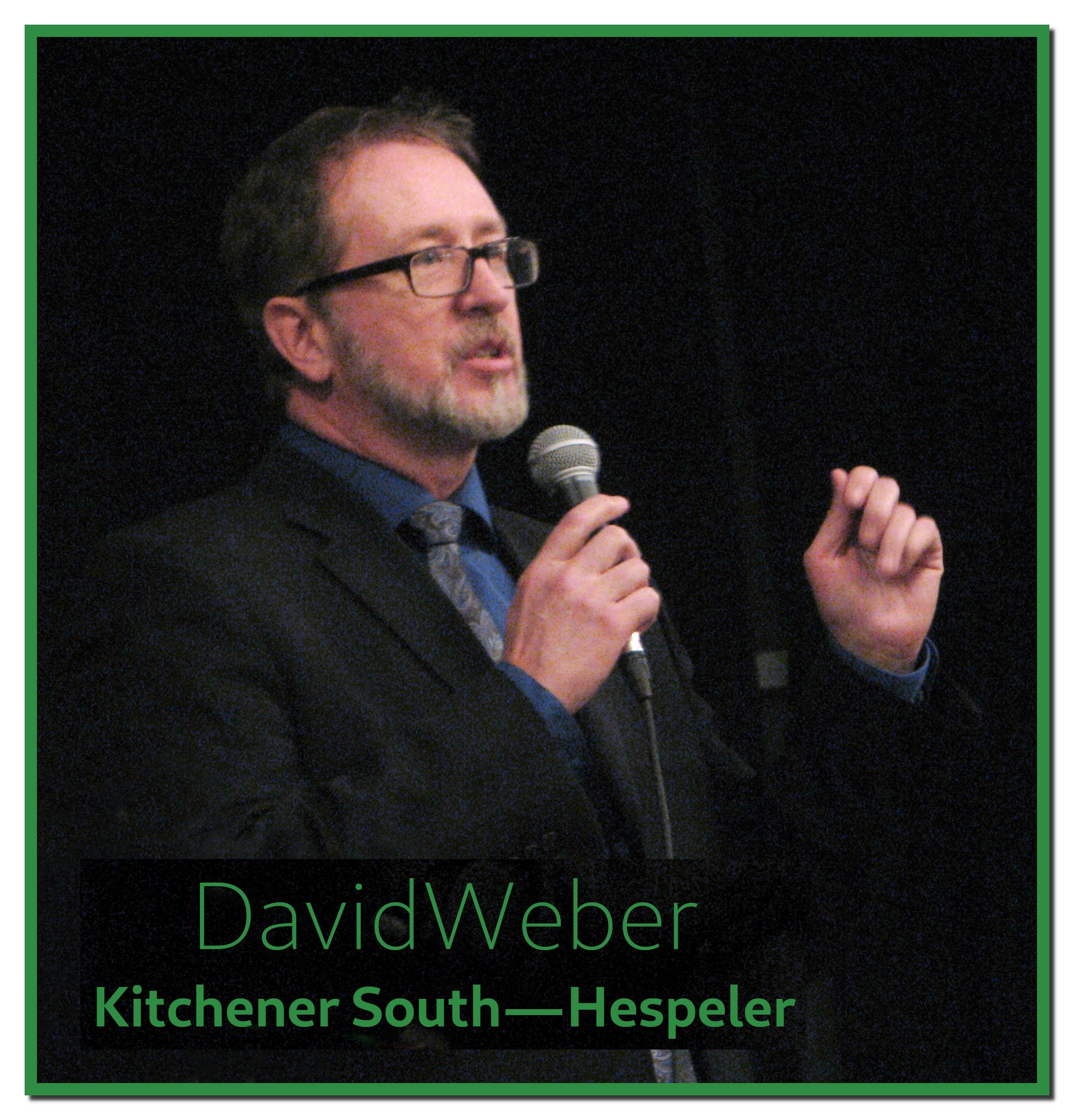 David Weber, Kitchener South—Hespeler Candidate makes his case